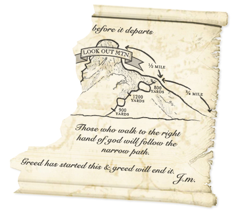 Second part of Jeremiah's map - Mystery at Ghost Mine - Case
