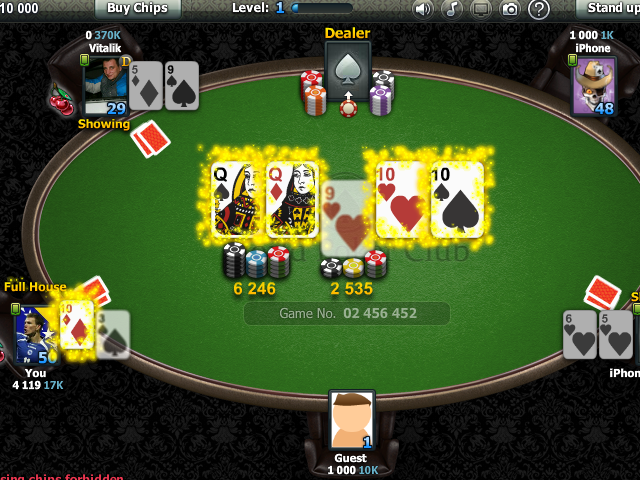Zynga poker royal flush