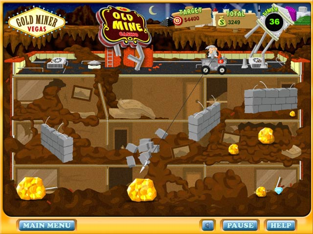 Play for free gold miner games online and mobile.