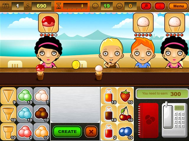 Ice cream bar game play online games free ozzoom games for Food bar games free online