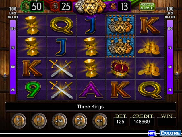 free 3 kings slot game