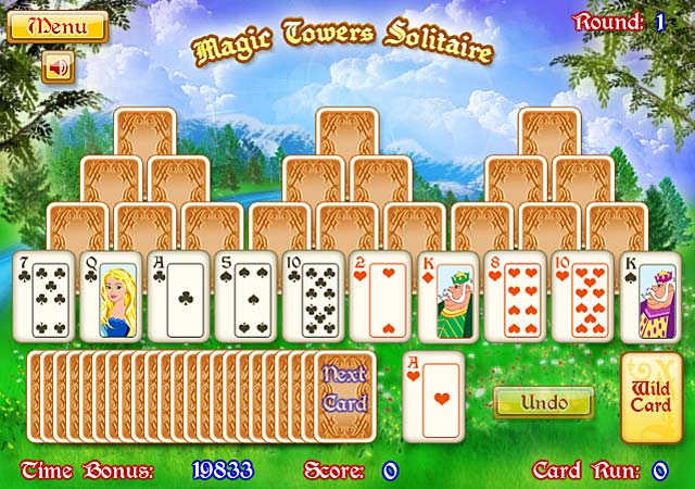 Magic Towers Solitaire Game Play Online Games Free Ozzoom