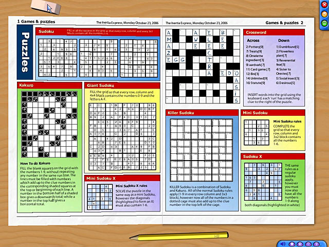 Newspaper Puzzle Challenge Sudoku Edition Game Play Free