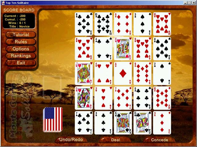 Top Ten Solitaire Game Play Free Download Games Ozzoom