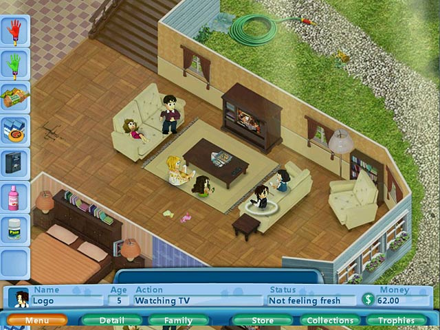 My Little Virtual Family Game - Play online at Y8.com