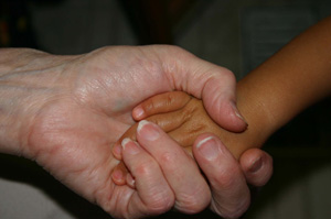 Grandparents Day - Holding hands